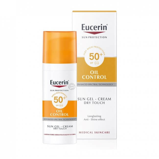 Eucerin Sun Gel Creme Oil Control Dry Touch Spf 50 50ml Grands Medical